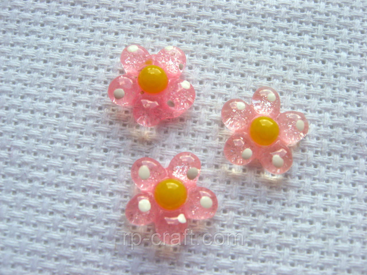 Декор для бантов и скрапбукинга.  Розовый цветок.