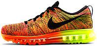 Мужские кроссовки Nike Air Max Flyknit 2014 Orange, найк
