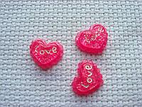 Декор для бантов и скрапбукинга.   Розовое сердце.