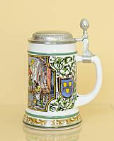 Пивной бокал, кружка, стеклокерамика, олово, Германия, фото 1