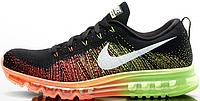 Мужские кроссовки Nike Flyknit Air Max 2014 Total Orange/Volt, найк