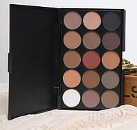 Палитра тени для макияжа глаз  15 оттенков MAC тени для макияжа Mac Cosmetics матовые