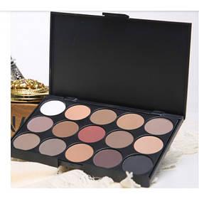 Палитра теней 15 оттенков MAC тени для макияжа Mac Cosmetics матовые тени для макияжа глаз