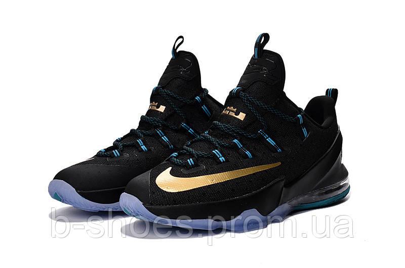 Мужские баскетбольные кроссовки Nike LeBron 13 Low (Black/Gold-Blue)