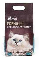 Наполнитель целлюлозный универсальный для кошек KITECO КИТЕКО Premium  3,8 л 1,5 кг