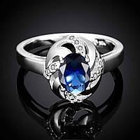 Кольцо Галактика циркон покрытие 925 серебро разные цвета