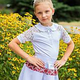 Трикотажна шкільна блуза для дівчинки, фото 2
