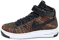 "Мужские кроссовки Nike Air Force 1 Mid Ultra Flyknit Dark ""Multy-Color"", найк, аир форс"