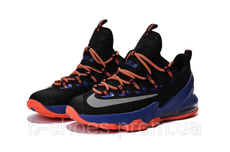 Мужские баскетбольные кроссовки Nike LeBron 13 Low (Black/Orange-Blue)