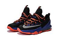 Мужские баскетбольные кроссовки Nike LeBron 13 Low (Black/Orange-Blue), фото 1