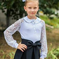 Школьная блузка с длинным рукавом для девочки, фото 1