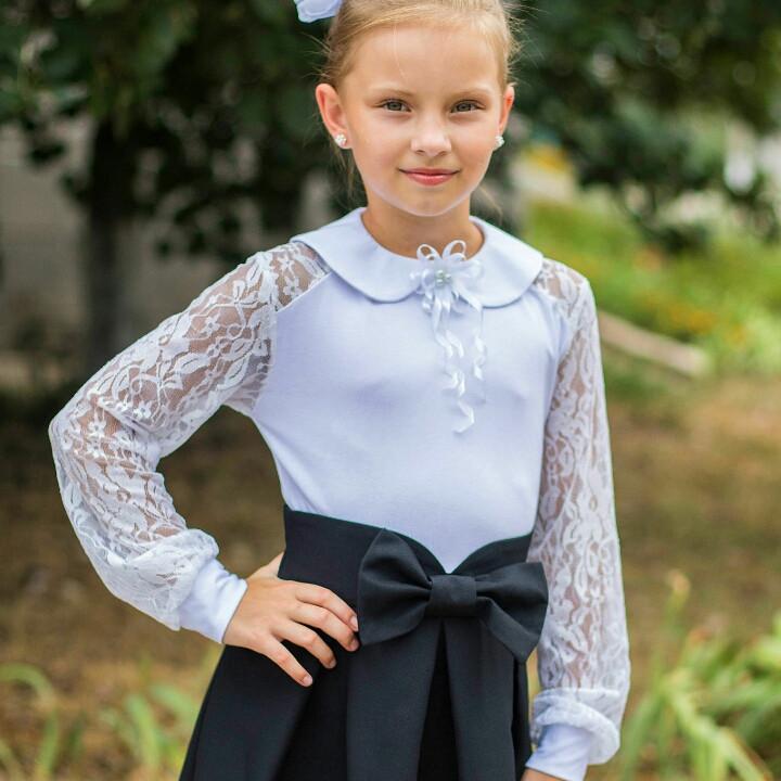 8ae2746f9c3 Школьная блузка с длинным рукавом для девочки   продажа