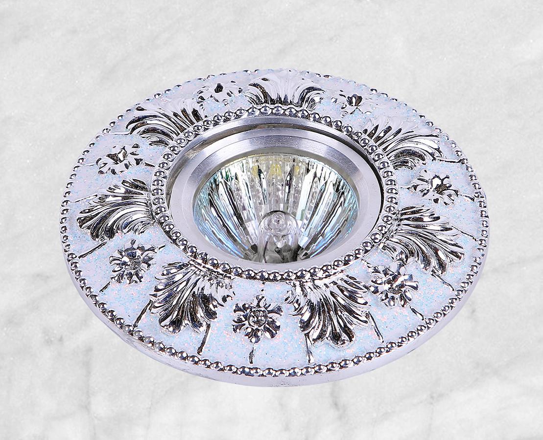 Точечный врезной светильник (47-4434 серебро)