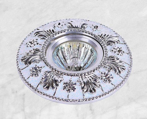 Точечный врезной светильник (47-4434 серебро), фото 2