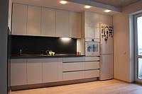 Прямая кухня 4метра без ручек, фото 1