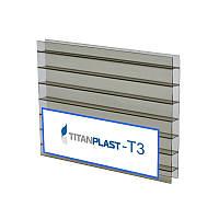 """Сотовый бронзовый поликарбонат 10 мм """"TitanPlast -Т3"""""""