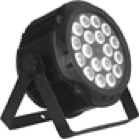 PROLUX LUX PAR 1815 Светодиодный прожектор на 18 светодиодах по 15 Вт RGBWA. Угол раскрытия  25°. 9 каналов DMX512.  Линейный диммер 0% - 100% .