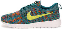Мужские кроссовки Nike Flyknit Roshe Run Mineral Teal, найк, роше ран