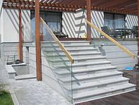 Ограждение из стекла для лестницы