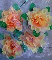 Цветы на ручки свадебного авто (подсолнух) 4 шт.