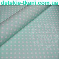 Ткань хлопковая Mist с горошком на мятном фоне ( № 341м)
