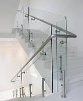 Лестничное ограждение из стекла