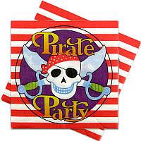 Салфетки Пираты пиратская вечеринка 15 шт