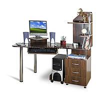 Эргономичный стол  на регулируемых опорах Эксклюзив-7, орех темный