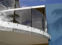 Балконное ограждение из стекла под заказ