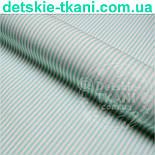 Отрез ткани Mist с полосочкой мятного цвета ( № 342м), фото 2