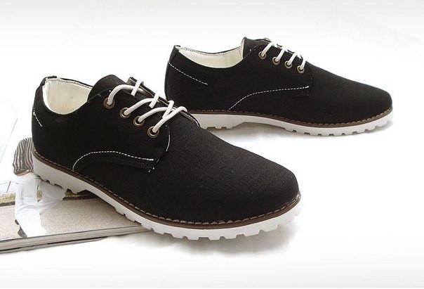 Мужские ботинки из холста