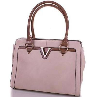 Оригинальная женская сумка из качественного кожезаменителя ANNA&LI (АННА И ЛИ) TUP14008-12-1 (бежевый)