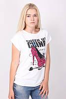 Очень красивая футболка с рисунком туфельки, одноразмерная