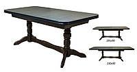 Стол обеденный СТ №17 раскладной 160х(195, 230)х90 орех