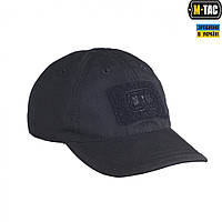 M-Tac бейсболка полевая с логотипом рип-стоп черная