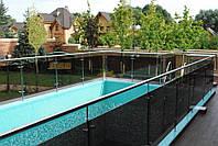 Ограждения для бассейнов из стекла