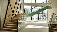 Стеклянные парила на лестницу