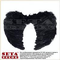 Чёрные маленькие крылья Ангела карнавальные