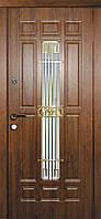 Дверь входная металлическая Астория со стеклом и ковкой серии Классик ТМ Каскад