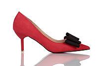 Туфли женские на каблуке Loren Leather Pumps (лорен) красные