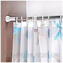 Телескопический карниз для штор в ванную комнату 110 -200 см