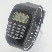 Часы калькулятор, черные