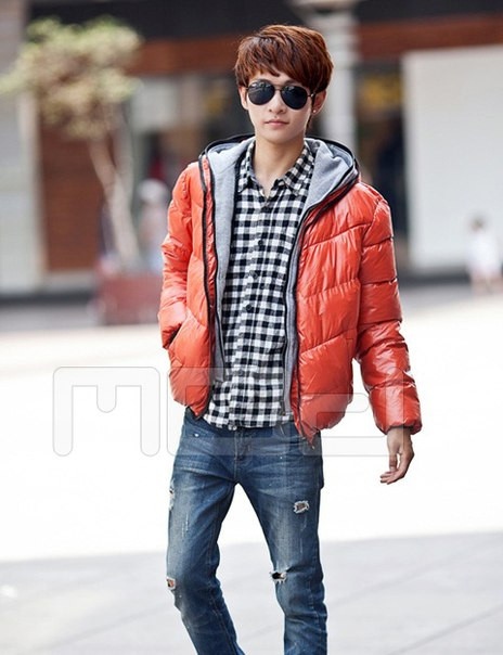 Мужская зимння куртка с капюшоном