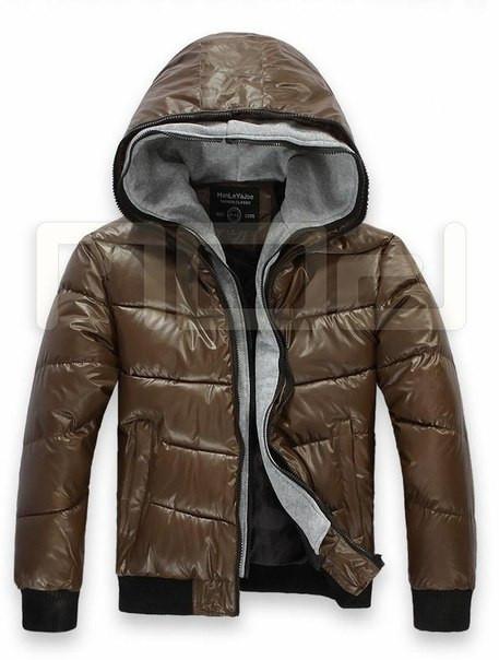 Мужская зимняя куртка с обманкой кофты