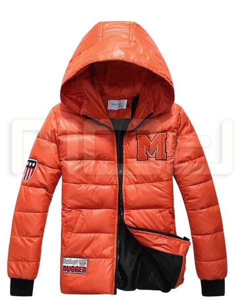 Мужская зимняя куртка с буквой М