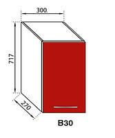 Секция В 30 Сандра верхний модуль красный(Світ Меблів ТМ)