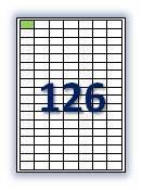 Этикеток на листе А4: 126 шт. Размер: 28х16 мм.