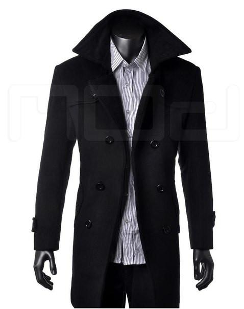 Мужское классическое длинное пальто