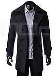 Мужское классическое длинное пальто, фото 3
