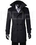 Мужское классическое длинное пальто, фото 4